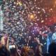 Konfetti regnet beim Konzert von Liquid und Maniac