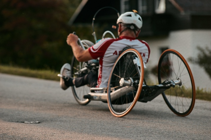 Handradfahrer beim Bergsprint in Stadl