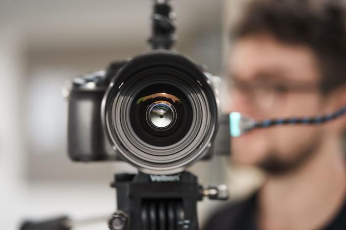 Nahaufnahme einer GH5S panasonic kamera
