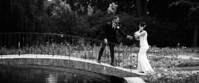 Hochzeitsfotos im Rosarium in Baden